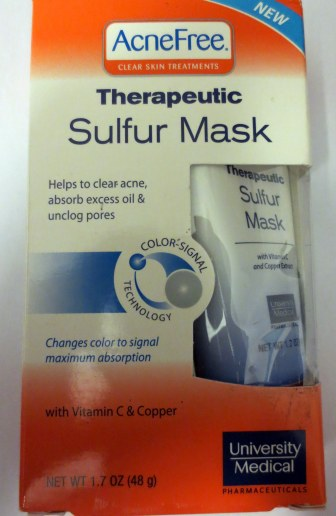 acnfree therapeutic sulfur mask