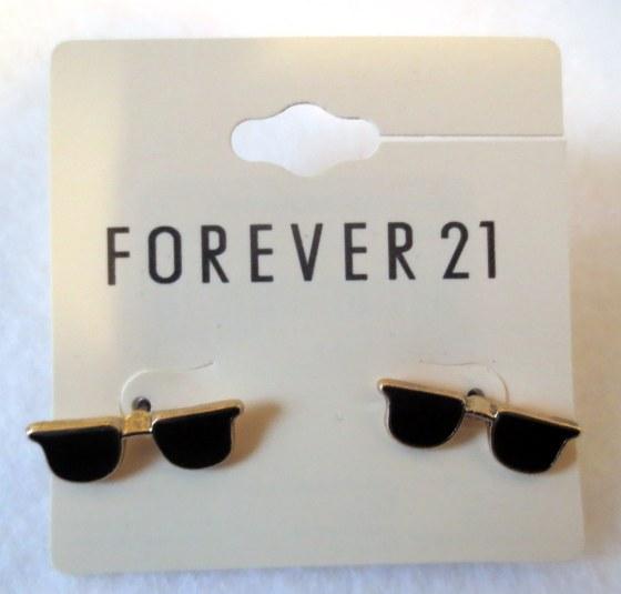 forever 21 black glasses earrings