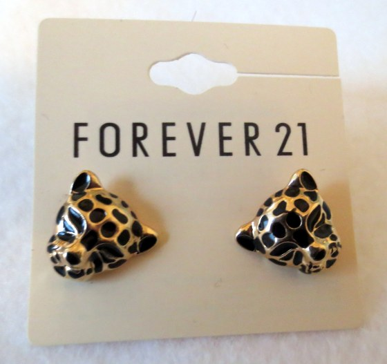 forever 21 leopard earrings