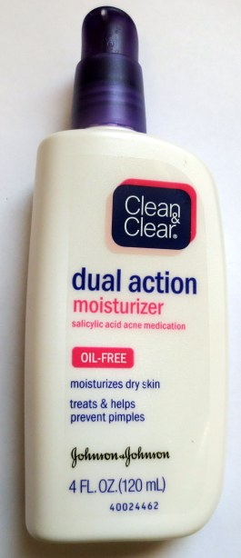 clean clear dual action moisturizer
