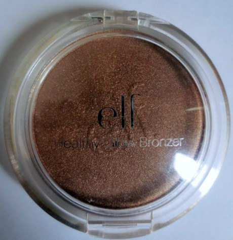 elf healthy glow bronzer in warm tan