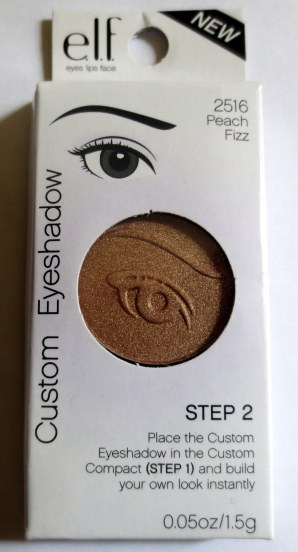 elf custom eyeshadow peach fizz
