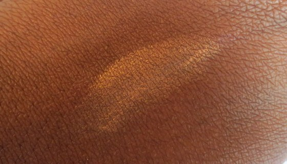 peach fizz swatch brown skin