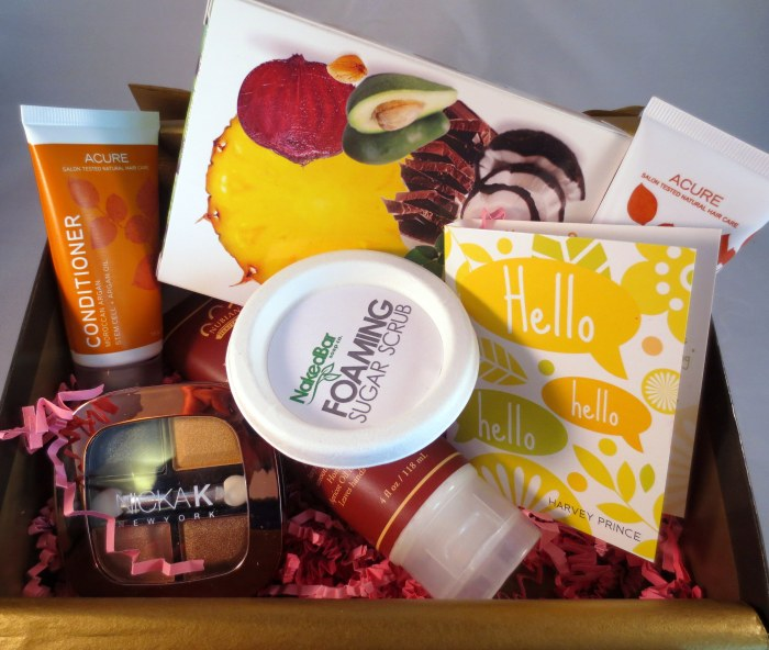 inside cocotique january box 1