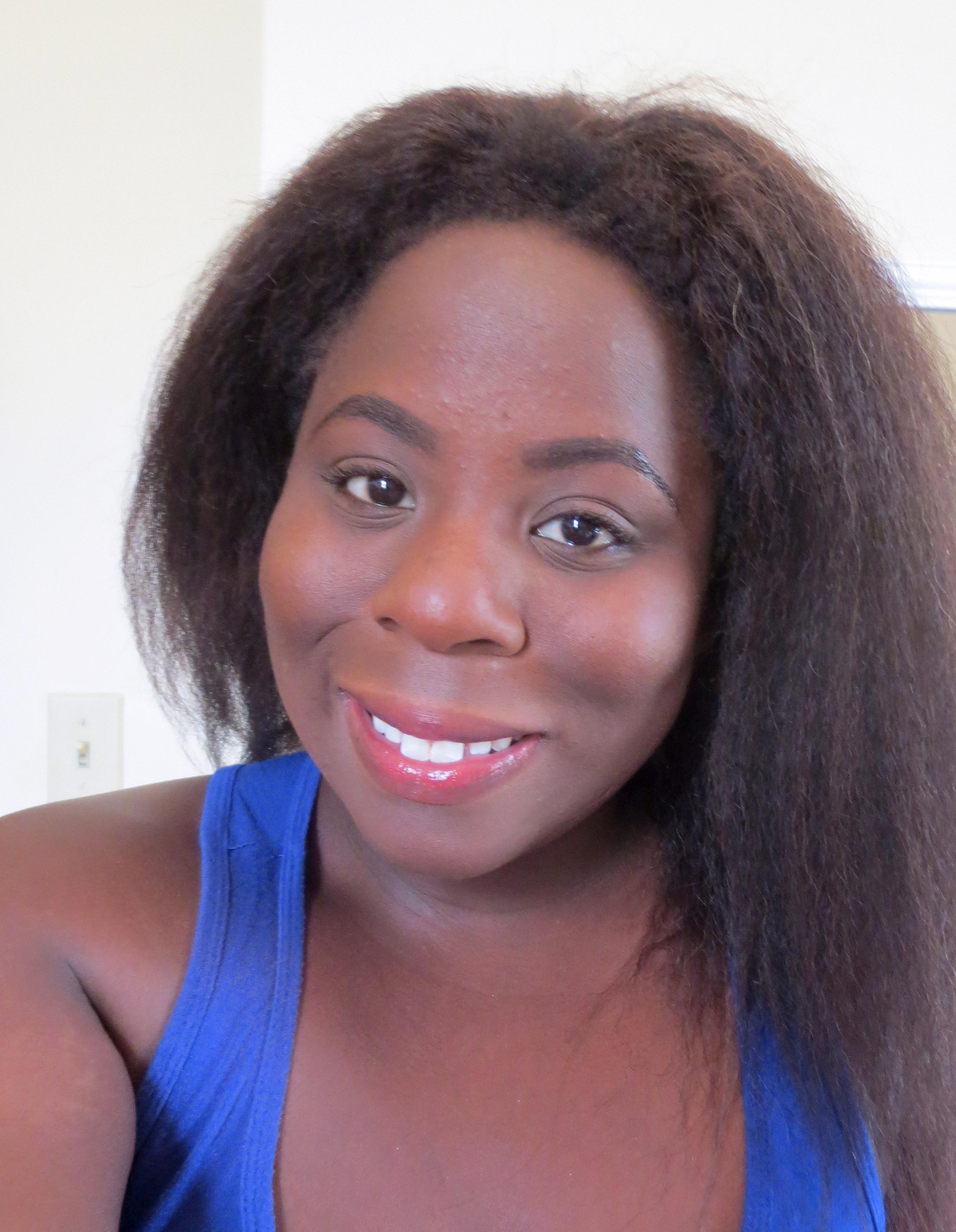 simple everyday makeup look dark skin